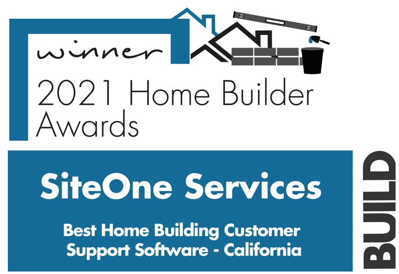 SiteOne Services Named Best Home Building Customer Support Software by BUILD Magazine